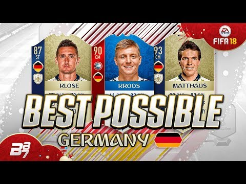 BEST POSSIBLE GERMANY TEAM! w/ KROOS AND KLOSE! | FIFA 18 WORLD CUP ULTIMATE TEAM thumbnail
