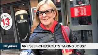 Self-checkouts or cashier at the grocery store?