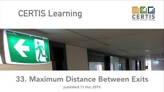 Maximum Distance Between Exits
