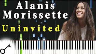 Alanis Morissette - Uninvited [Piano Tutorial] Synthesia | passkeypiano