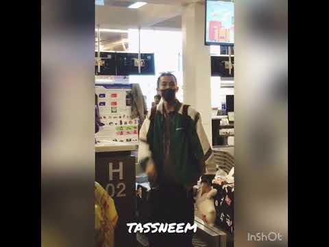 Dyland Wang 王鹤棣 & Caeser Wu 吴希泽 @Phuket Airport 25-08-18