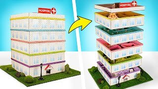 Awesome Game For Your Hamster | Hospital 5Level Maze With A Helipad