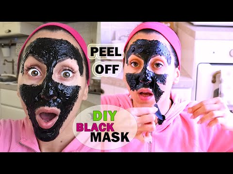 punti neri addio maschera peel off fatta in casa diy black mask peel off carlitadolce. Black Bedroom Furniture Sets. Home Design Ideas