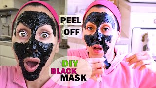 PUNTI NERI ADDIO!!! MASCHERA PEEL OFF Fatta in Casa | DIY BLACK MASK Peel Off !!! | Carlitadolce