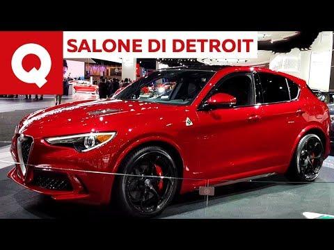 Lo stand Alfa Romeo al Salone di Detroit 2018 | Quattroruote