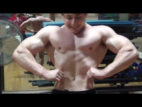 Veiny Pumped Flexing and Talks About Muscle Overload Training