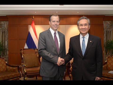 เอกอัครราชทูตสหรัฐอเมริกาประจำประเทศไทยเข้าเยี่ยมคารวะรัฐมนตรีว่าการกระทรวงการต่างประเทศ