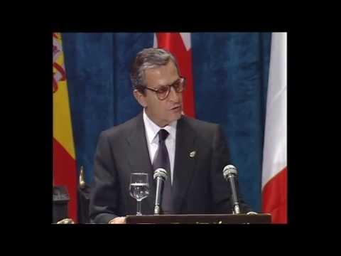 Discurso de Adolfo Suárez, Premio Príncipe de Asturias de la Concordia 1996