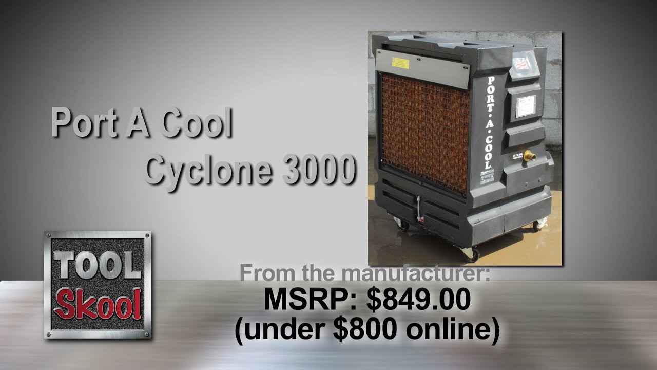Port A Cool Cyclone 3000 Evaporative Cooler Review Toolskool You