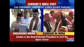President Asif Ali Zardari  In Ajmer Darga