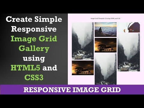 Create Simple Responsive Image Grid Gallery Using HTML5 And CSS3 | Example 2