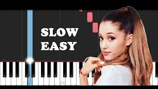 Ariana Grande - ghostin (SLOW EASY PIANO TUTORIAL)