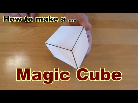 How  to make a magic cube from cardboard