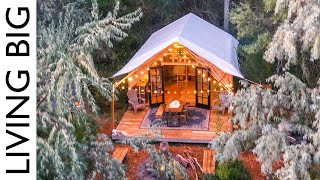 Back To Nature Living In A Beautiful Tiny House Tent Revisited
