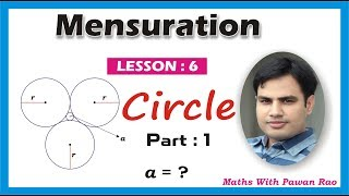 #MENSURATION_[ Circle ] in Hindi & English ( PART - 1 ) - Problems & Solutions for SSC, CDS  ,KVS