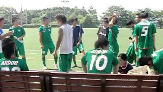 アルドール狭山FC 試合前ミーティング風景.