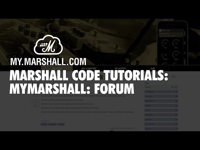Marshall CODE Tutorials: MyMarshall - Forum