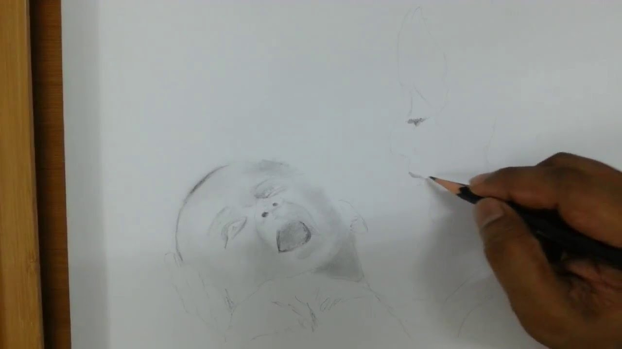 Pencil art mothers love part 1