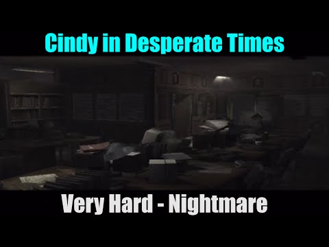 Cindy in Desperate Times (Very Hard | Nightmare) Resident Evil Outbreak File #2 (PS2)