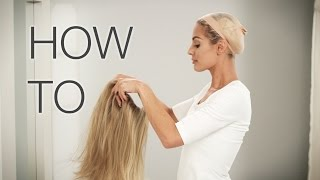 How to Put on a Wig - Its easy, watch video!