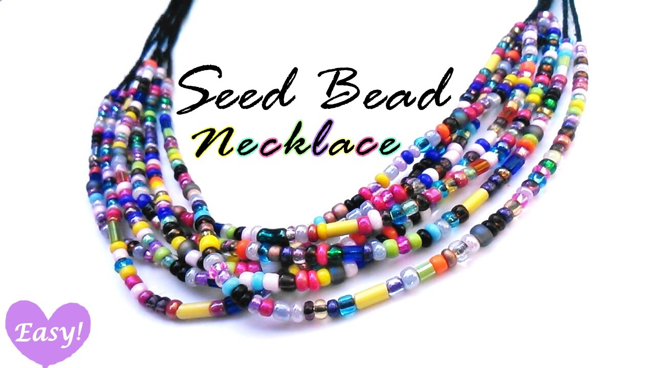 Seed Bead Necklace Easy You