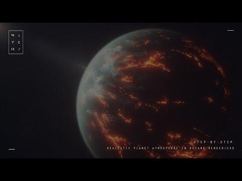 Step-By-Step - Creating Realistic Planet Atmosphere in Cinema4d / Octane Render