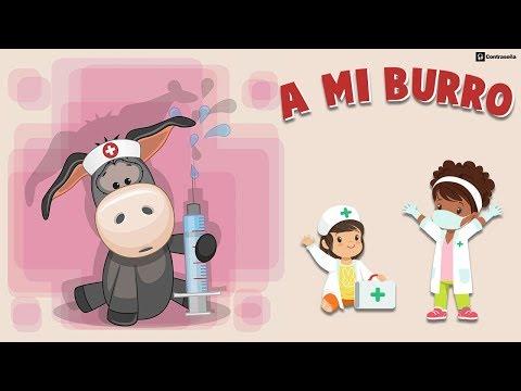 A Mi Burro Le Duele La Cabeza Letra, Cancion Infantil, Musica de Niños Aprender, Burrito Para Bailar