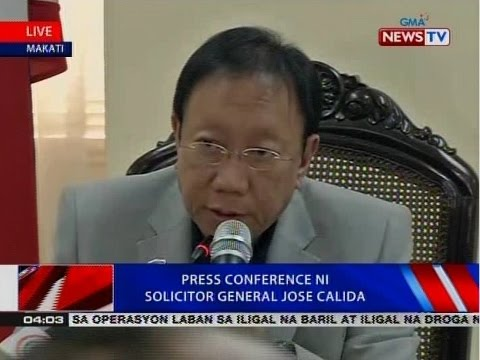 BP: Press conference ni Solicitor General Jose Calida
