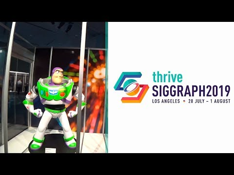 Siggraph 2019 // Day1 // Parking и Production Gallery