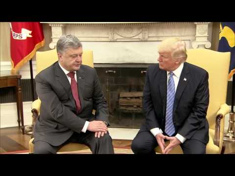 Trump meets Ukrainian President Petro Poroshenko in Oval Office