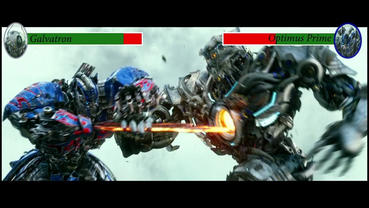 optimus prime vs galvatron with health bars (transformers 4) - youtube