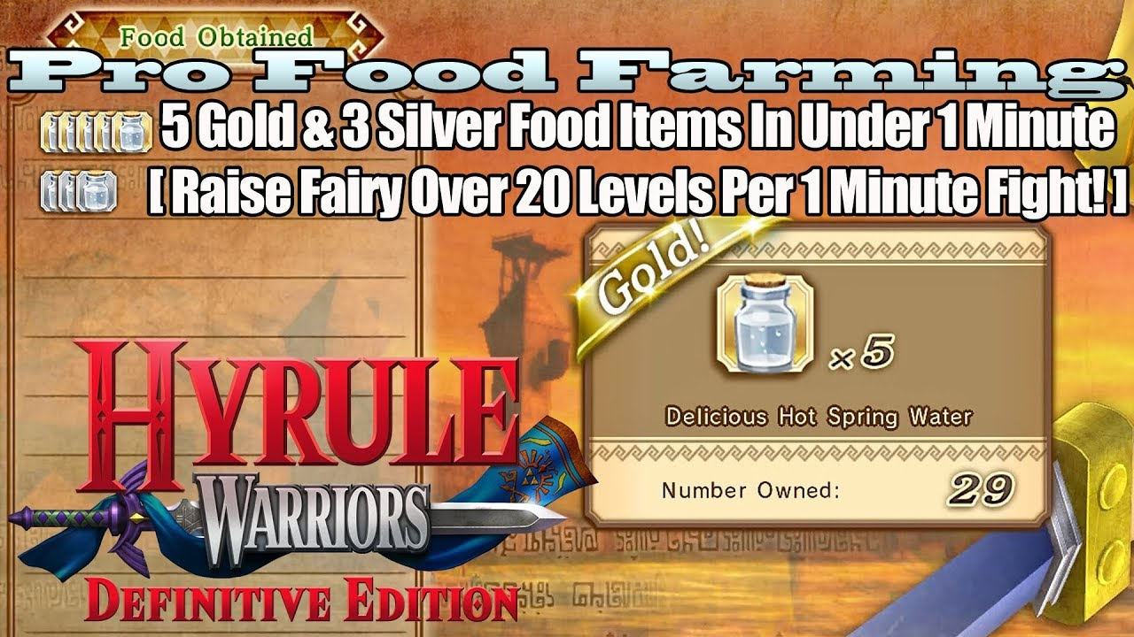 Hyrule Warriors De Pro Food Farming Over 20 Levels Of Fairy Food In Under 1 Minute Youtube