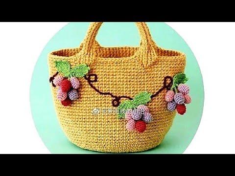 Две креативные сумки крючком со схемами🌶🌶🌶 örgü Deseni ❤ Strickmuster ❤ örgü Deseni