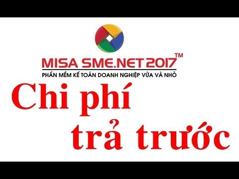 Hướng dẫn khai báo chi phí trả trước và xem báo cáo liên quan trên MISA SME.NET 2017