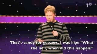 Swedish comedian Johan Glans with English subtitles