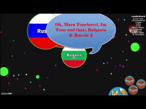Playing on black theme for first time! Russia & Bulgaria 2!!! Agar.io #20