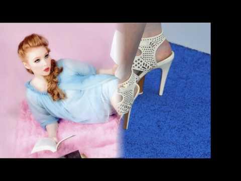 Molly Quinn's porcelain birthday feet