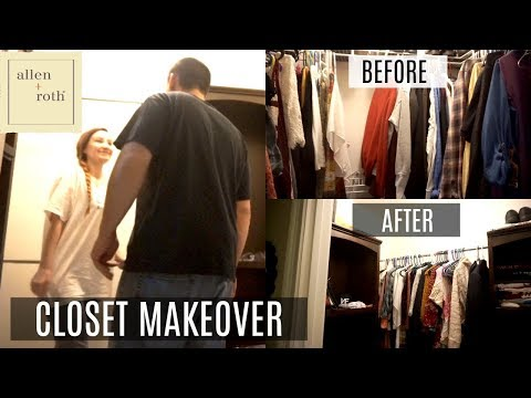 CLOSET MAKEOVER| BEFORE & AFTER| ALLEN + ROTH COMPLETE CLOSET KIT