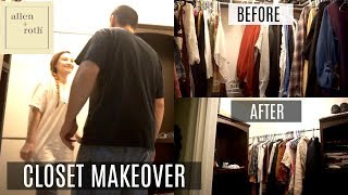 Closet Makeover Before After Allen Roth Complete Closet Kit Youtube