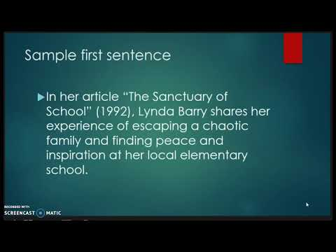ENG 101 How To Write A Response Essay