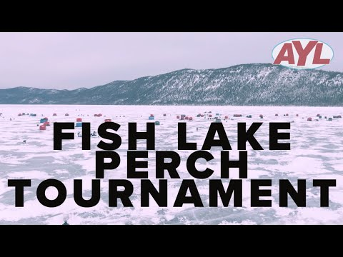 Ice Fishing Perch Tournament At Fish Lake