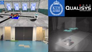 Flight [1 Quadrotor] Qualisys Track Manager [experiment 02] {3D Visualization Engine}