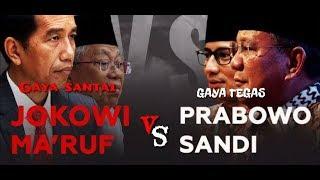 Debat Gaya Santai Jokowi Vs Gaya Tegas/Keras? Prabowo 1 Viral