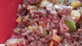 Beefy Tomato Rice Skillet