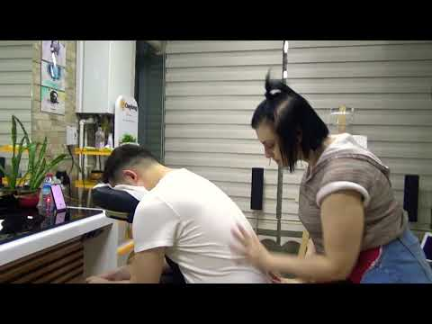 ASMR Lady,Miss Oben Full Package Massage In Barber Chair