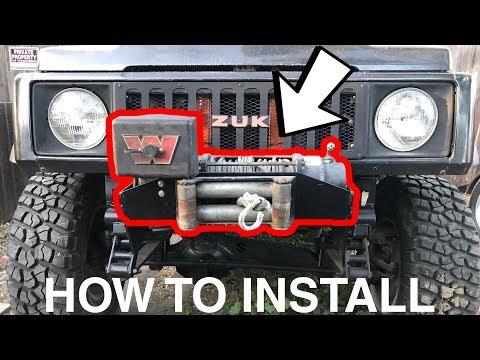 How To Install A Winch On Your 4×4 (Suzuki Samurai, Jeep, Toyota)
