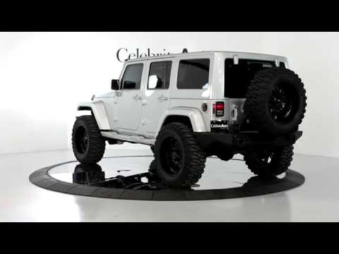 "2012 JEEP WRANGLER UNLIMITED SAHARA 4X4 SILVER/BLK 4"" LIFT ..."
