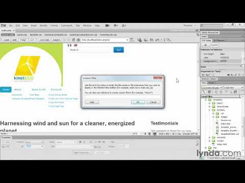 25.Working With CSS, Index Php, And Joomla! Dreamweaver CS6 And Joomla!  Workflows