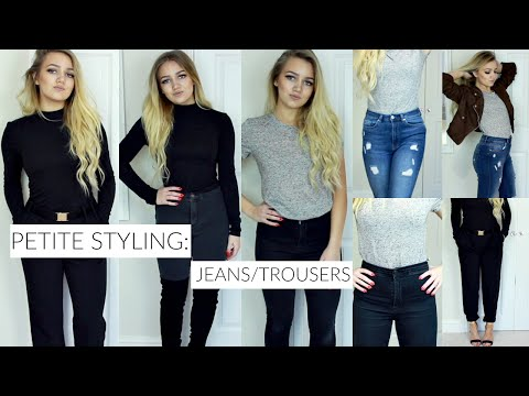 12424f38805e PETITE STYLING SERIES: JEANS / TROUSERS THAT FIT! (Topshop , Missguided) -  YouTube