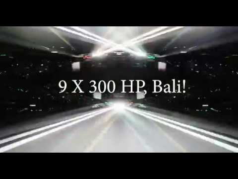 9 X 300 HP, Bali! | Wacky Speed Boats #3 | Avalon Luxury Pontoons